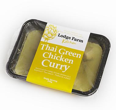 lodge farm Thai green chicken curry