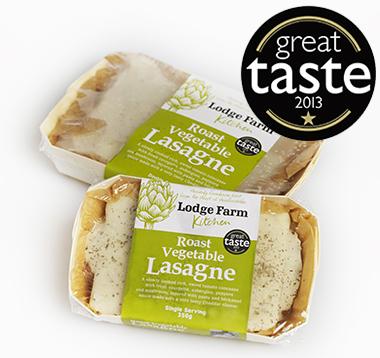 lodge farm roast vegetable lasagne