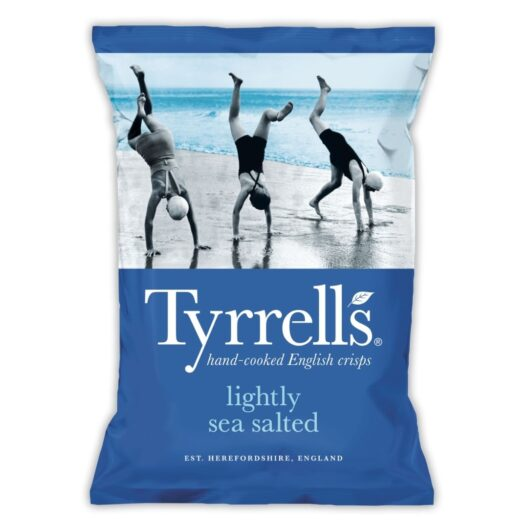 Tyrrells lightly sea salted crisps