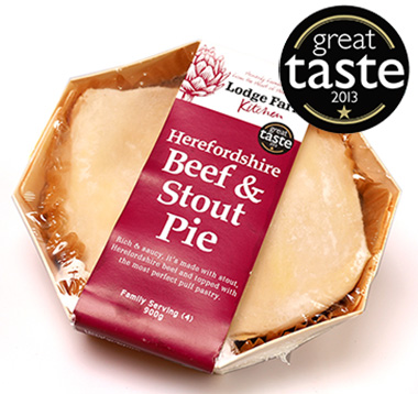 Lodge farm beef and stout pie