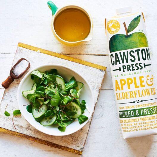 Castwon press apple and elderflower juice