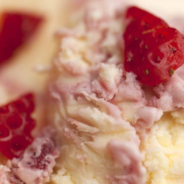 Strawberry and clotted cream icecream