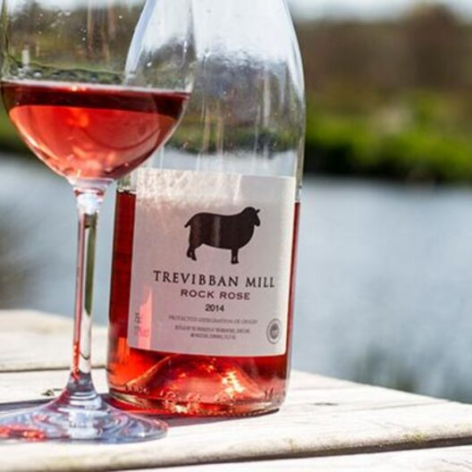 trevibban mill rock rose cornish wine