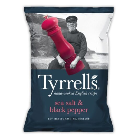 Tyrrells sea salt and black pepper crisps