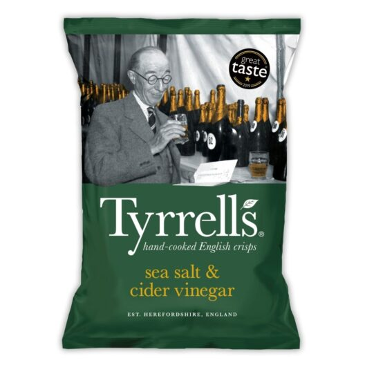 Tyrrells sea salt and cider vinegar crisps