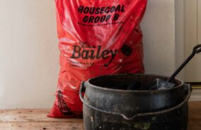 large clumps of house coal sold at baileys country store penryn