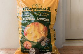 Hotmax compressed wood logs sold at baileys country store