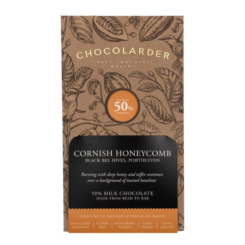 Chocolarder cornish honey comb milk chocolate