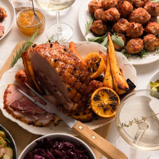 A festive gammon supplied by primrose herd our local free range meet producer