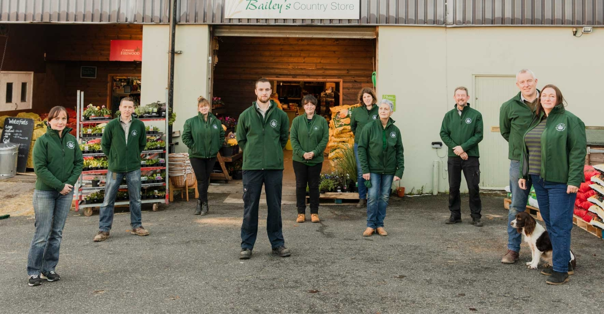 The team behind baileys country store in penryn
