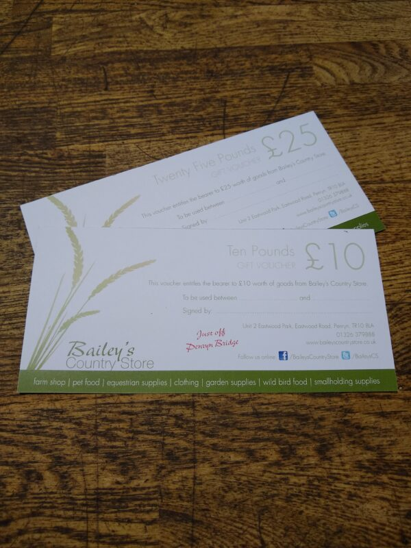 baileys country store gift voucher
