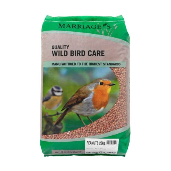 peanuts for wild birds sold at baileys country store in penryn cornwall