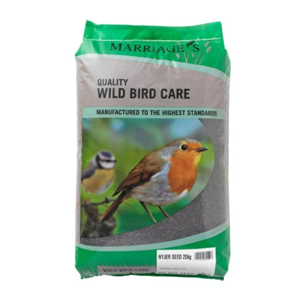 Nyjer Seed perfect for attracting finches. sold at baileys country store
