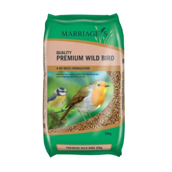 Premium wild bird food sold at baileys country store