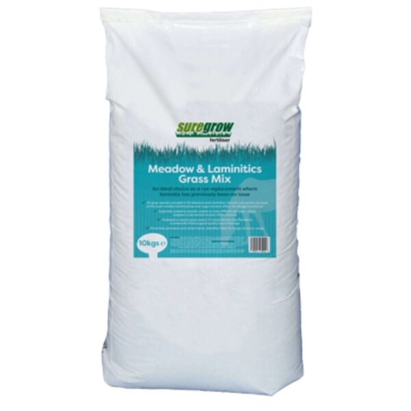 suregrow meadow and laminitis grass mix sold at baileys country store.