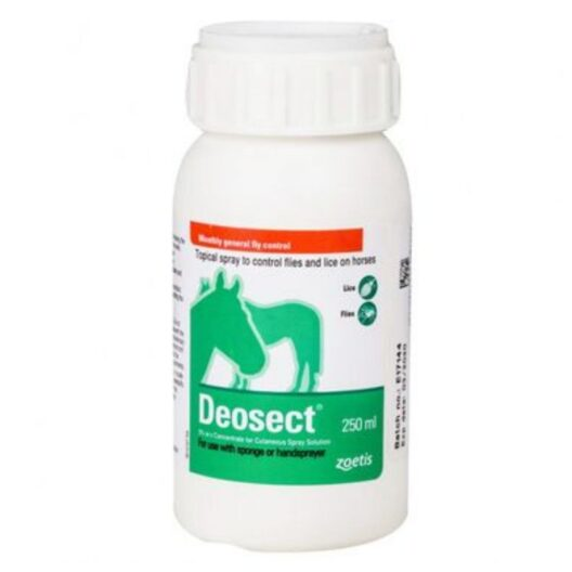 Deosect lice and fly spray for donkeys and horses.
