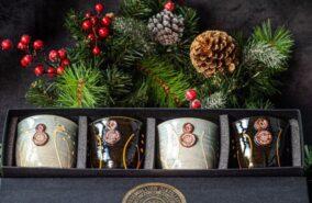 Rosemullion ceramic drinking cups pack of 4 gift set